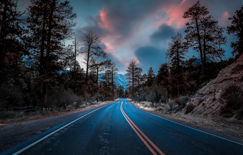 Фото обои Las Vegas, Nevada, Mountain Charleston, Road to Heaven