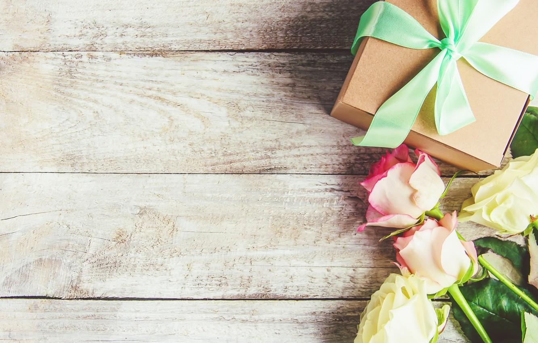 Фото обои любовь, подарок, сердце, розы, букет, love, розовые, pink, flowers, romantic, valentine's day, roses, gift box