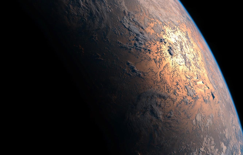 Фото обои космос, планета, Земля
