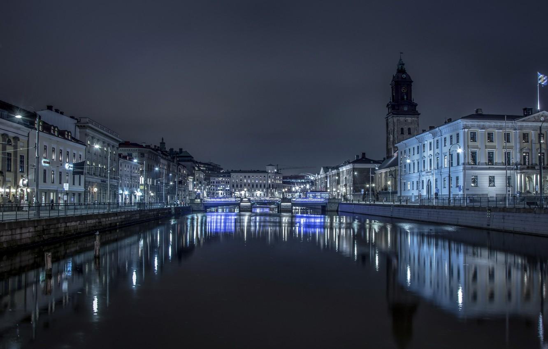 Обои швеция, ночь, гетеборг. Города foto 6