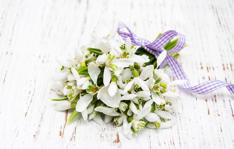 Фото обои цветы, букет, подснежники, white, белые, flowers, spring, snowdrops