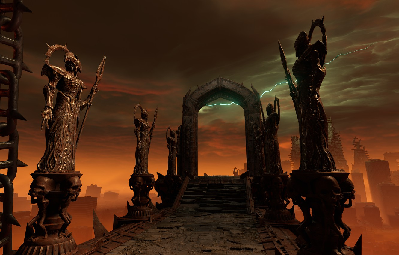 Фото обои Hell, Game, Hardcore, Bethesda Softworks, Doom, id Software, Doom Eternal