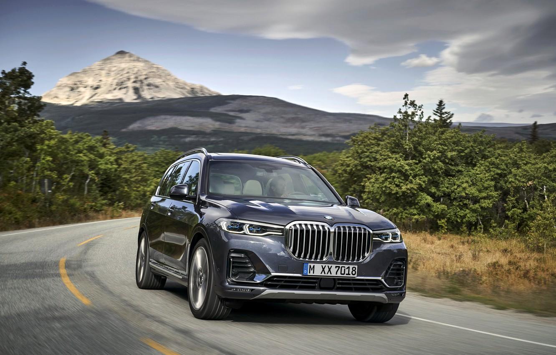 Фото обои дорога, гора, BMW, 2018, кроссовер, SUV, 2019, BMW X7, X7, G07