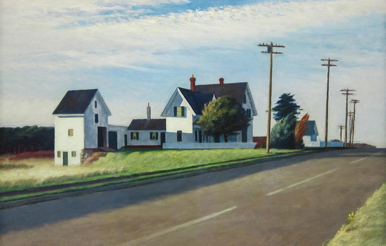 Фото обои Эдвард Хоппер, 1941, Route 6, Eastham