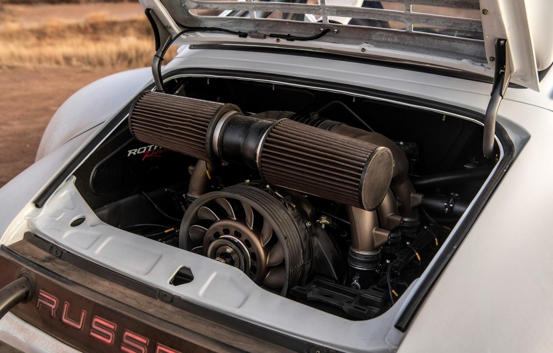 Фото обои двигатель, 911, Porsche, 964, 2019, 911 Baja Prototype, Russell Built Fabrication