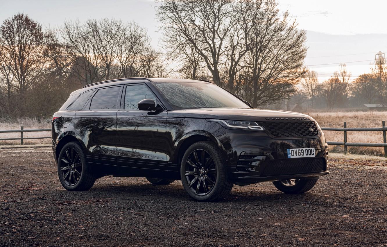 Фото обои чёрный, Land Rover, Range Rover, SUV, 2020, Velar, Velar R-Dynamic Black Limited Edition