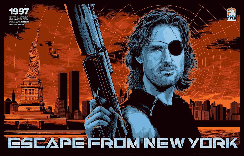 Фото обои Kurt Russell, Escape from New York, Snake plissken