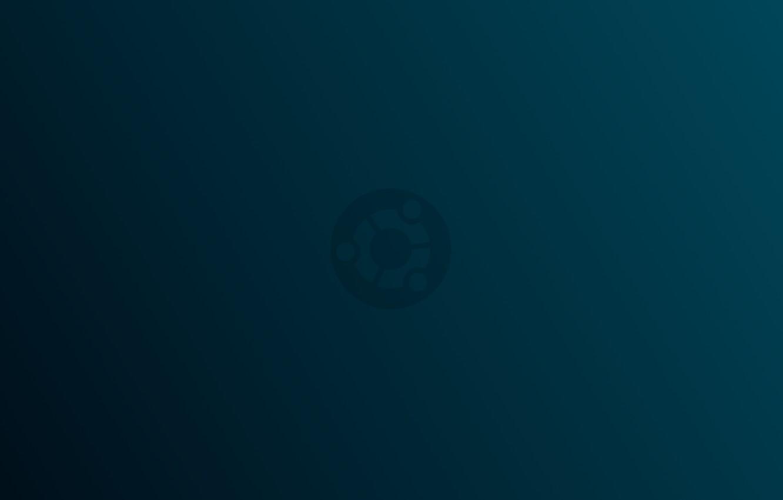 Фото обои linux, ubuntu, minimalism, blue, gradient