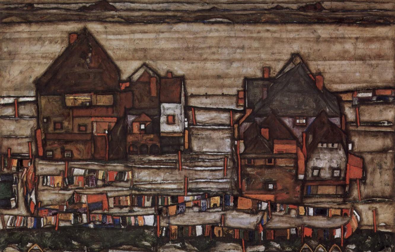 Фото обои Городской пейзаж, Экспрессионизм, Egon Schiele