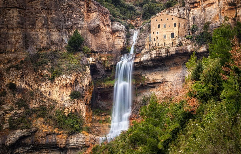 Фото обои benedictino, cascadas, monasterio