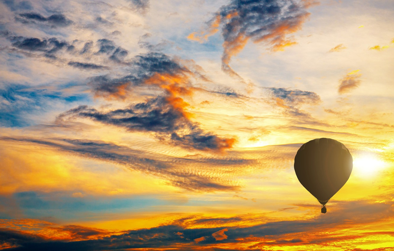 Обои Облака, Пейзаж, воздушный шар. Авиация foto 12