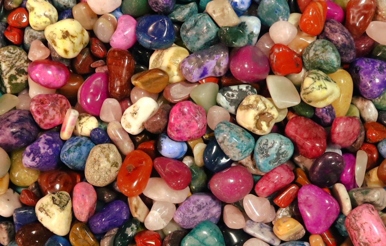 Фото обои макро, разноцветные, камешки