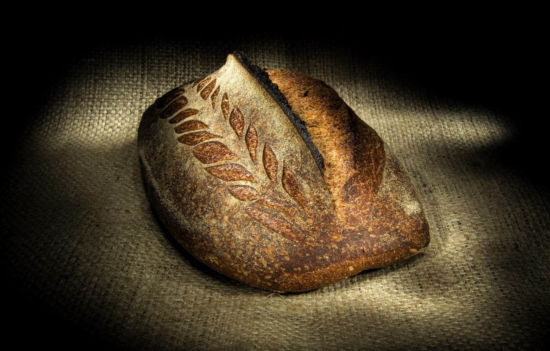 Фото обои узор, хлеб, мешковина, колосок, булка
