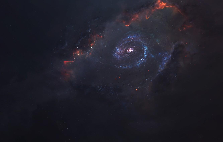 Фото обои Звезды, Космос, Туманность, Звезда, Star, Арт, Stars, Space, Art, Universe, Galaxy, Nebula, Science Fiction, Пространство, ...