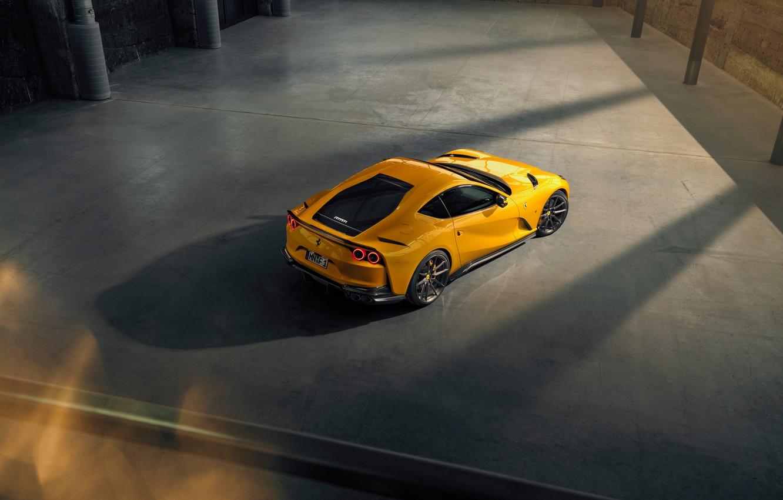 Фото обои машина, жёлтый, фонари, Ferrari, стильный, спортивный, Superfast, 812, by Novitec