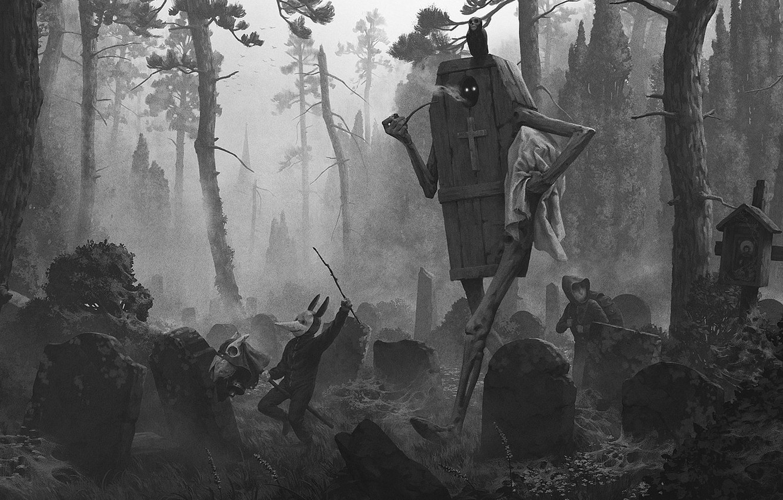 Фото обои кладбище, гроб, coffin, работа konstantin kostadinov