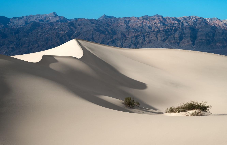 Фото обои горы, барханы, пустыня
