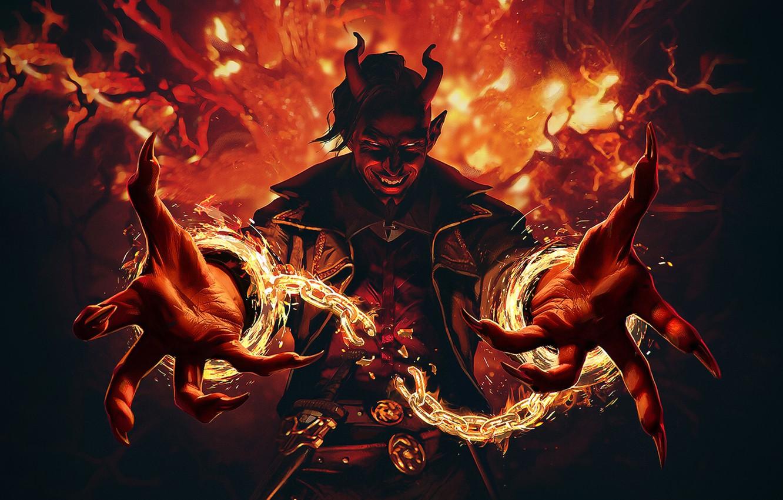 Фото обои демон, дьявол, art, MtG Kaldheim, Tibalts Trickery, Обман тибальтов