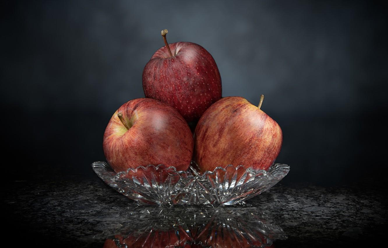 Фото обои фон, яблоки, фрукты