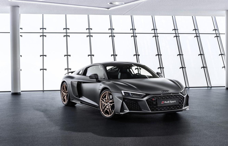 Фото обои машина, Audi, фары, купе, спорткар, Audi R8, V10, Decennium