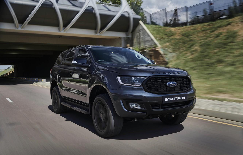Фото обои дорога, Ford, Sport, Everest, 4WD, 2021