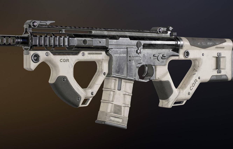 Фото обои рендеринг, оружие, винтовка, weapon, render, custom, рендер, 3d art, ar-15, assault rifle, assault Rifle, ар-15, …