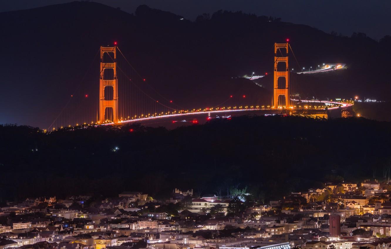 Фото обои United States, California, San Francisco, Golden Gate, Clarendon Heights, Twin peaks