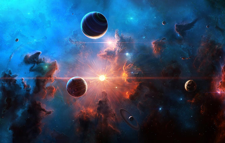 Обои space, planets, stars, cosmos. Космос foto 9