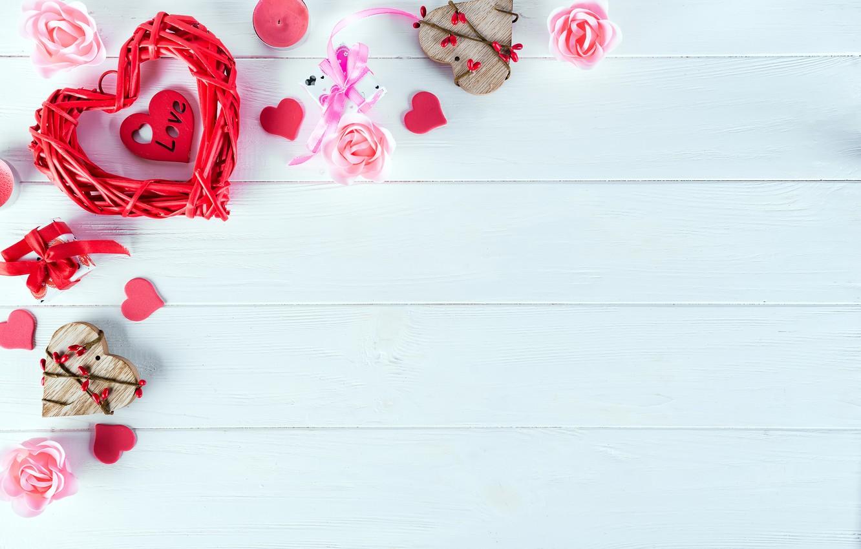 Фото обои подарок, сердце, розы, love, heart, pink, romantic, roses, cookies