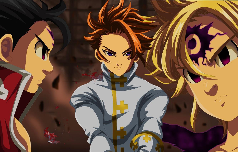 Фото обои Arthur, Meliodas, Nanatsu no Taizai, Nanatsu no Taizai - The Seven Deadly Sins, Zeldris