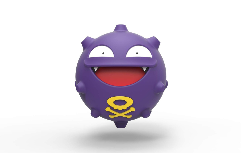 Фото обои шар, poison, покемон, pokemon, ядовитый, Koffing, кофинг, коффинг