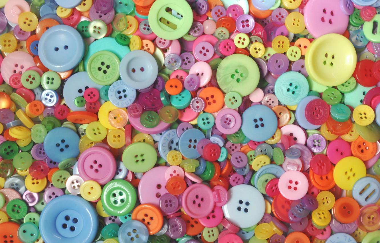 Фото обои макро, пуговицы, разноцветные
