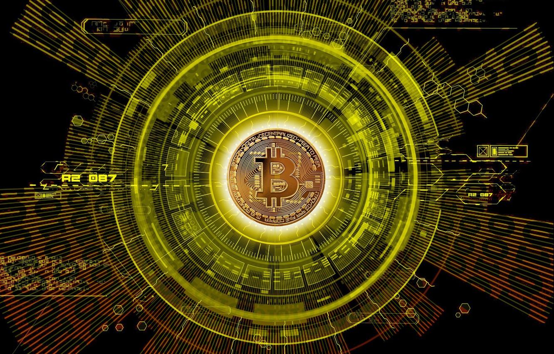 Фото обои лого, валюта, монета, money, currency, Bitcoin