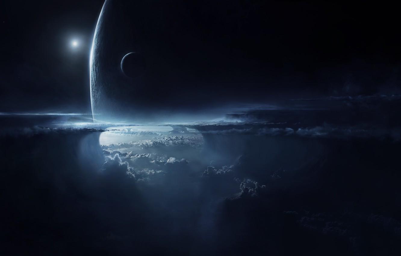 Фото обои космос, фото, планеты, арт