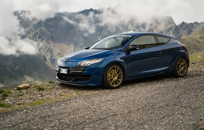 Фото обои Renault, Blue, Megane, Extreme
