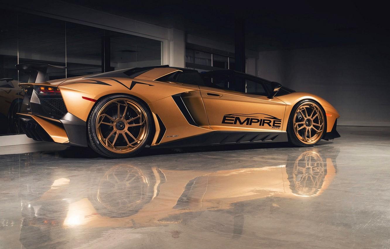 Фото обои Lamborghini, Tuning, Lamborghini Aventador, Aventador SV, LP750-4 SV, Autos Empire, Lamborghini Aventador LP750-4 SV Roadster