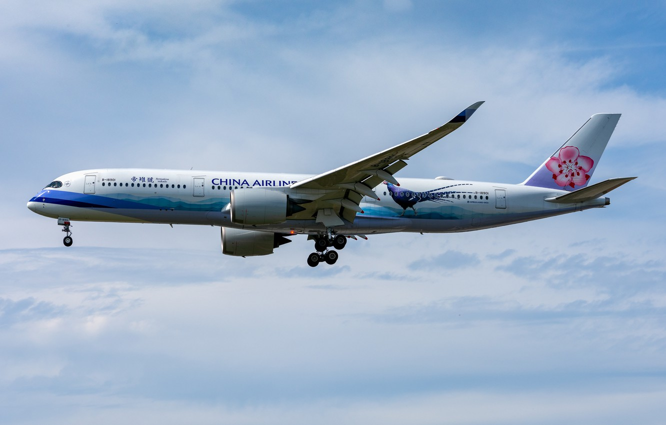 Фото обои Airbus, China Airlines, A350-900