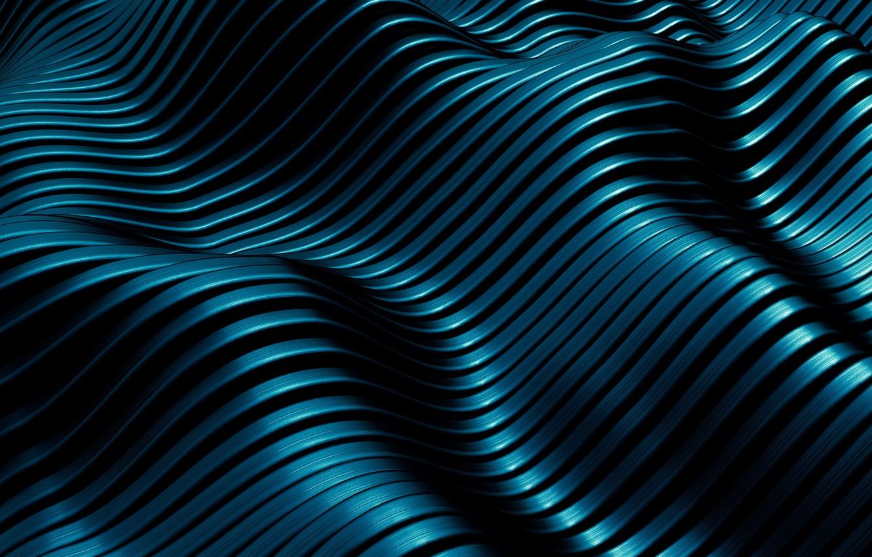 Фото обои волны, синий, абстракция, фон, текстура
