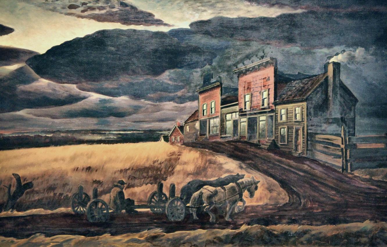 Фото обои Charles Ephraim Burchfield, 1931-34, November Evening