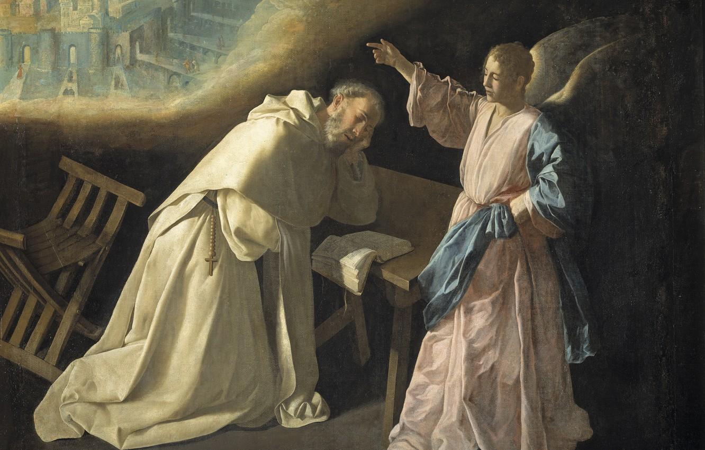 Фото обои 1629, Francisco de Zurbaran, Видение святого Петра Ноласко