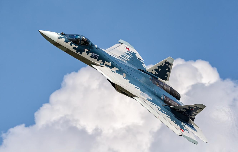 Фото обои оружие, самолёт, Su-57