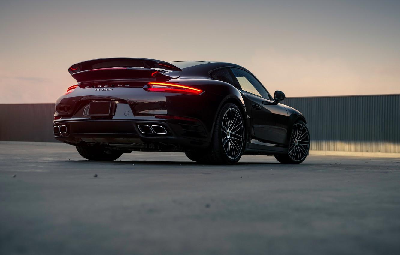 Фото обои огни, 911, Porsche, Turbo