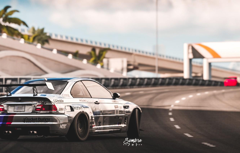 Фото обои Авто, BMW, Машина, E46, BMW M3, Рендеринг, Concept Art, BMW M3 E46, Forza Motorsport 7, …