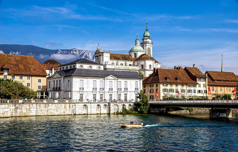 Фото обои Швейцария, собор, Золотурн, Solothurn, St. Ursus Cathedral