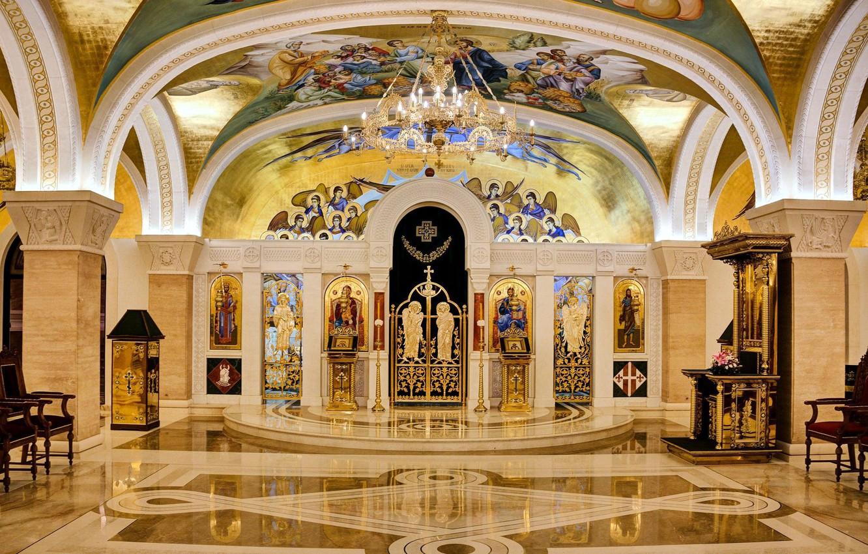 Фото обои рисунки, церковь, убранство