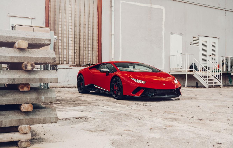 Фото обои Lamborghini, Italy, RED, VAG, Performante, Huracan