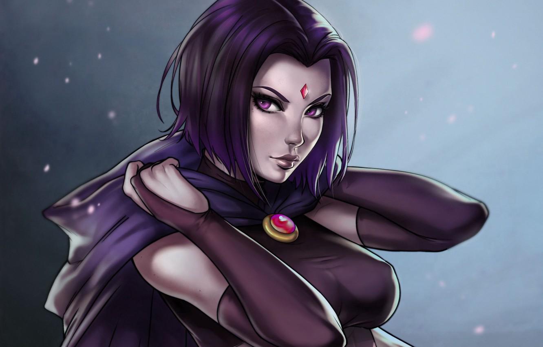 Фото обои кристалл, девушка, girl, ведьма, DC Comics, witch, Raven, Рэйвен, by Dandonfuga