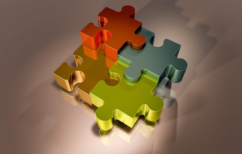 Фото обои пазлы, фрагменты, puzzle, головоломка