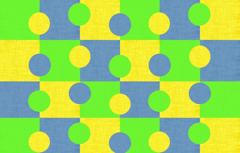 Фото обои круги, синий, желтый, яркий, зеленый, фон, текстура, геометрия