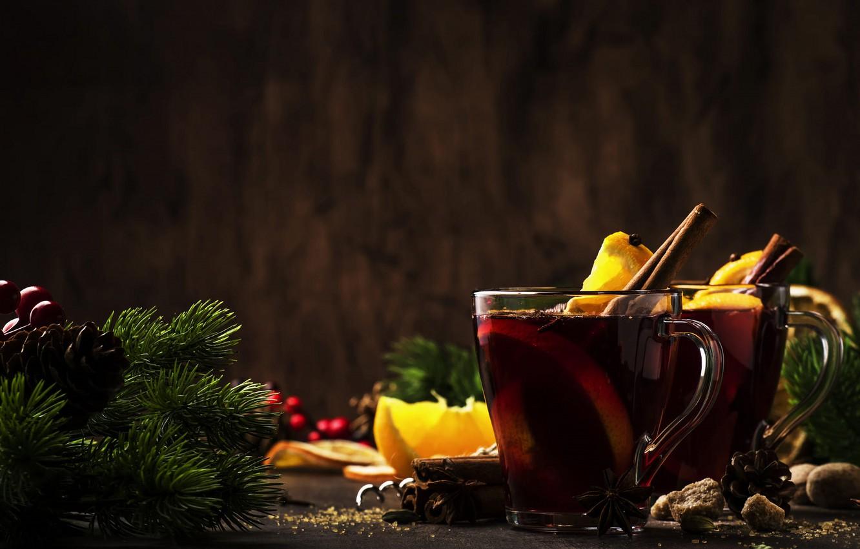 Фото обои чай, новый год, рождество, хвоя